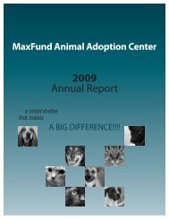 2009 Annual Report - MaxFund