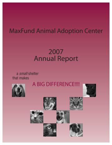 2007 Annual Report - MaxFund