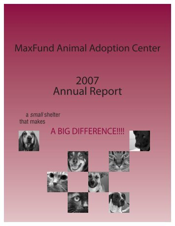 2007 Annual Report - MaxFund