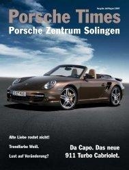Ausgabe Juli/August 2007 [534 KB] - Porsche Zentrum Solingen