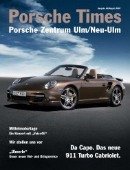 Ausgabe Juli/August 2007 - Porsche Zentrum Olympiapark