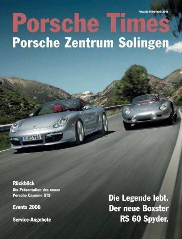 Ausgabe März/April 2008 [810 KB] - Porsche Zentrum Solingen