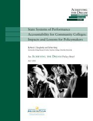 State Systems of Performance Accountability for Community Colleges