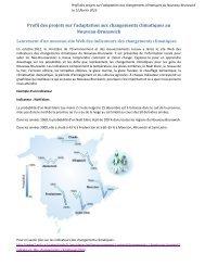 Profil des projets sur l'adaptation aux changements climatiques au ...