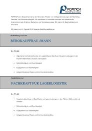 bürokauffrau-/mann fachkraft für lagerlogistik - PORTICA Marketing ...