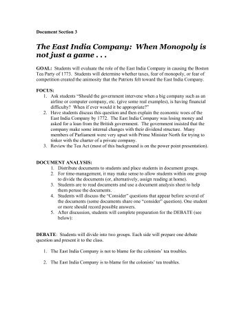 The East India Company - Massachusetts Historical Society