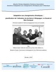 Adaptation aux changements climatiques - Atlantic Climate ...