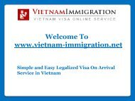 Visa On Arrival Service in Vietnam