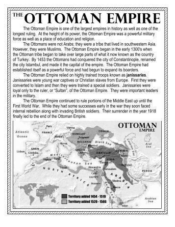 Ottoman Empire Assignment - Wyoming City Schools