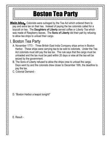 English Essay Topics For College Students Essay On The Boston Tea Party Doctor Faustus Tragic Hero Essay Boston Tea  Party Historical Society Short Essays In English also Essay On How To Start A Business Annex C  Apec Customs M Strategic Framework  Asiapacific Boston  Writing Essay Papers