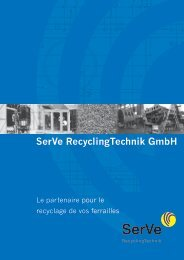 SerVe RecyclingTechnik GmbH - Ressor.fr