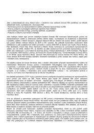 Zpráva o činnosti Komise mládeže ČAPEK v roce 2008