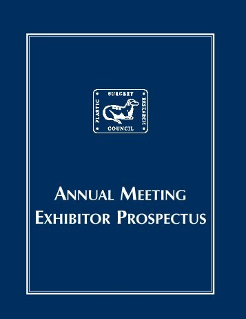 2005 PSRC Exhibitor Prospectus - Plastic Surgery Research Council