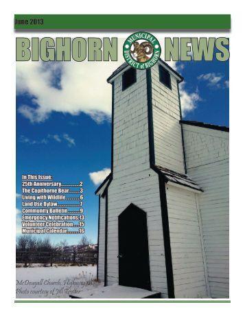 June 2013 - Municipal District of Bighorn