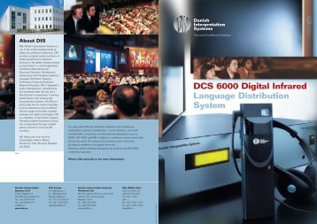 DCS 6000 Digital Infrared Language Distribution System - AVC Group