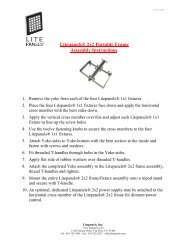 Litepanels® 2x2 Portable Frame Assembly Instructions - AVC Group
