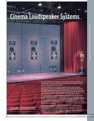 JBL-Data sheet CINEMA SERIES - AVC Group