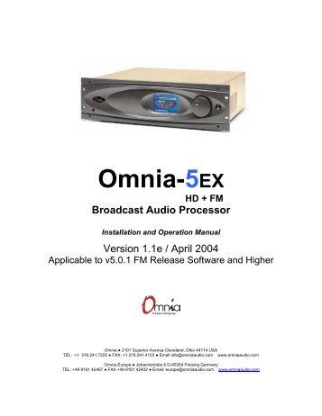 omnia one users manual les techniques de la radio fm et rh yumpu com bentel omnia 4 user manual omnia 11 user manual