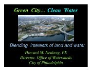 Green City… Clean Water