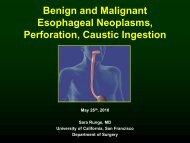 Esophageal - San Francisco General Hospital & Trauma Center