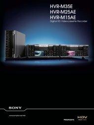 HVR-M35E HVR-M25AE HVR-M15AE - WTS Broadcast