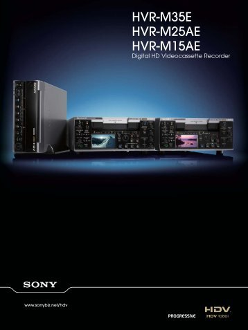 Hvr-m35u hvr-m25au hvr-m15au videocorp.