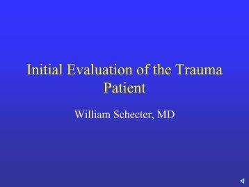 Initial Evaluation of the Trauma Patient
