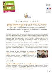 CP Semaine Alimentation Santé-Région Nord - Vivons en forme