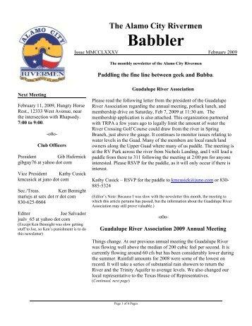 Newsletter 09-02 - Alamo City Rivermen
