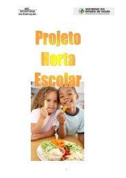 Projeto Horta Escolar - REBRAE - Rede Brasileira de Alimentação e ...