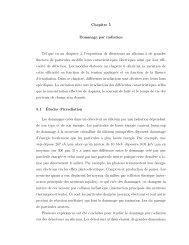 Chapitre 5 Dommage par radiation Tel que vu au chapitre 4, l ...