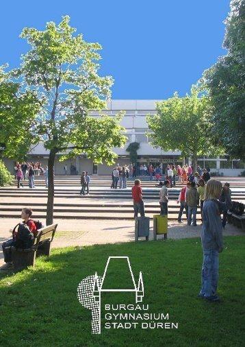 Aktuelle Infobroschüre - Burgau-Gymnasium Düren