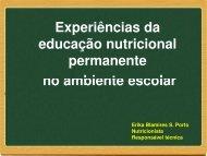 A Escola Promovendo Hábitos Alimentares Saudáveis - REBRAE ...