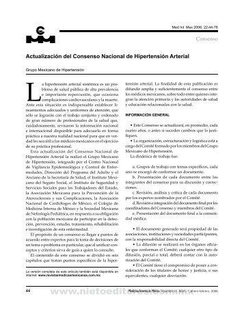 Actualización del consenso nacional de Hipertensión arterial