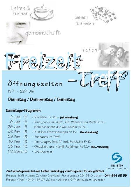 Öffnungszeiten - insieme   Zürcher Oberland