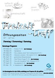 Öffnungszeiten - insieme | Zürcher Oberland