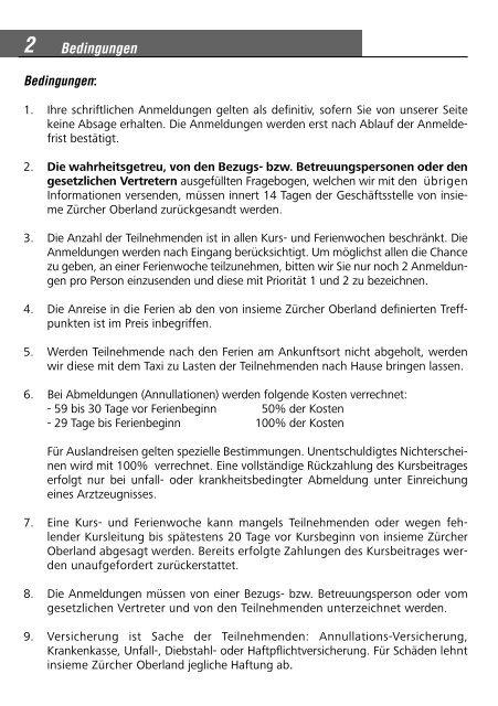 Bedingungen - insieme   Zürcher Oberland