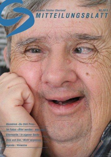 M I T T E I L U N G S B L A T T - insieme | Zürcher Oberland