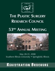 53rd annual meeting - Plastic Surgery Research Council