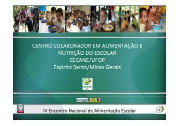 CECANE UFOP - REBRAE - Rede Brasileira de Alimentação e ...