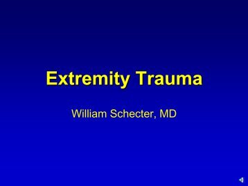 Extremity Trauma