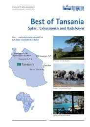 Best of Tansania - Kaufmann Trekking