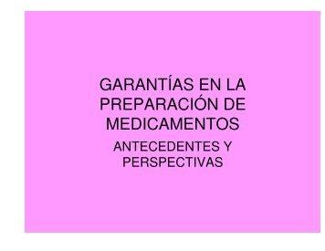 (Microsoft PowerPoint - GARANT\315AS EN LA ... - Aprofarm