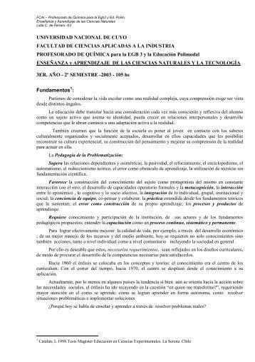Enseñanza y Aprendizaje de las Ciencias Naturales - Facultad de ...