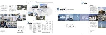 Linha de produtos para os segmentos de Energia, Óleo e Gás - Romi