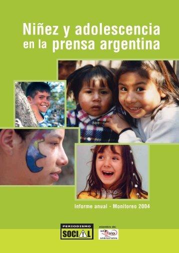 Niñez y adolescencia prensa argentina - Unicef