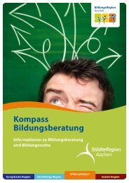 Kompass Bildungsberatung - StädteRegion Aachen