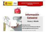 acceso y difusión de información catastral