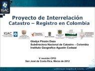 El proyecto de Interrelación Catastro Registro en Colombia - CPCI