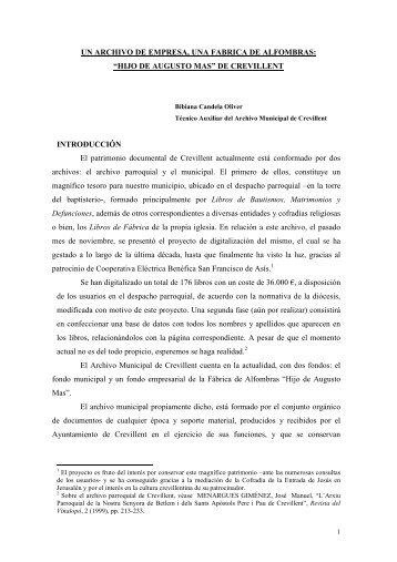 ARTICULO FABRICA - Ayuntamiento de Crevillent